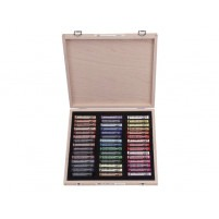 Rembrandt Soft pastelS DE LUXE WOODEN BOX OF 45 PORTRAIT