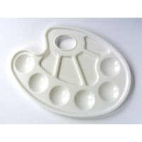 Kidney Shaped 6 Well Plastic Painting Tray Palette
