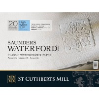 "Saunders Watercolour Block 16""x12"" ~ 300gsm Not - High White"