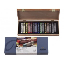 Rembrandt Soft Pastels - BASIC WOODEN BOX OF 15