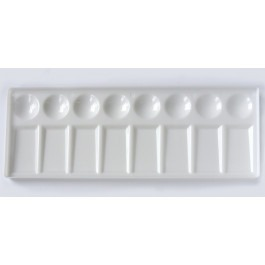 Rectangular 8 Well Plastic Painting Tray Palette
