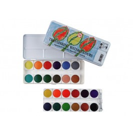 KIDS TRANSPARENT WATERCOLOUR SET OF 24 PANS
