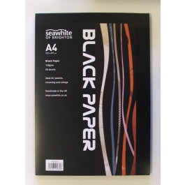 A4 Black paper pad - 140gsm 50 sheets