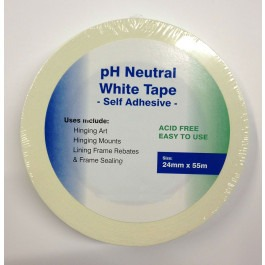 Acid Free White Hinging/Masking Tape - 24mmx55m