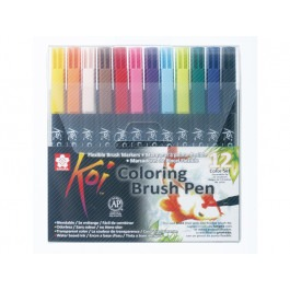 KOI WATERCOLOUR BRUSH PEN SET 12