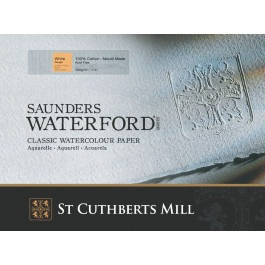 1 Sheet of Saunders Waterford 56x76cm - 425gsm - Rough Watercolour Paper