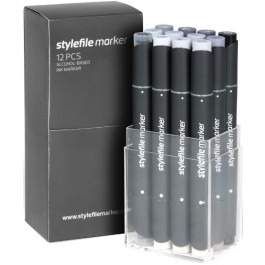 Stylefile Marker Set - 12er Cool Grey
